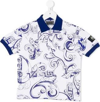 Versace Baroccoflage print polo shirt