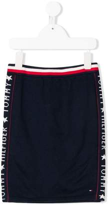 Tommy Hilfiger Junior logo trim skirt