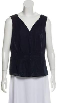 Akris Punto Smock Thread-Accented Sleeveless Top