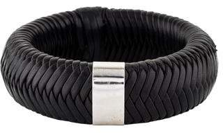 Christian Dior Braided Leather Bangle