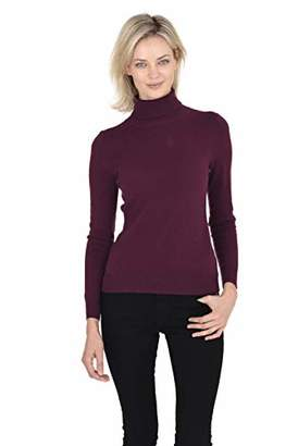 Cashmeren Women's Wool Cashmere Classic Knit Soft Long Sleeve Jersey Turtleneck Pullover Sweater