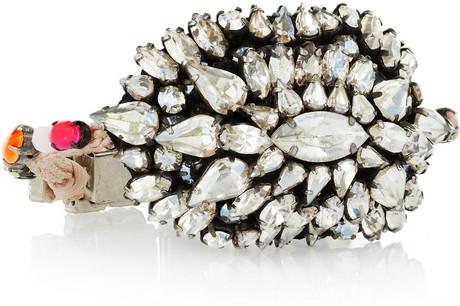 Shourouk Bakara Moonlight silver-plated Swarovski crystal bracelet