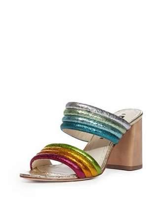 Alice + Olivia Lori Metallic Rainbow Slide Sandal
