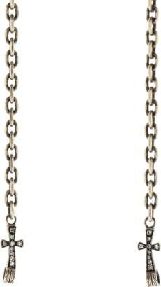 Sevan Biçakci Diamond Cross Endcap Silver Open End Chain