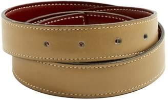Hermes Vintage Cuir seul / Leather Strap Beige Leather Belts