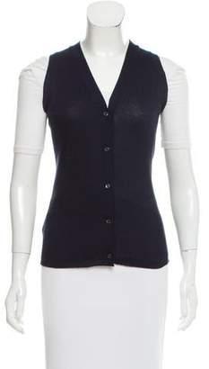 Prada Rib Knit Cardigan Vest