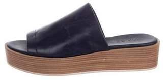 Vince Leather Slide Sandals