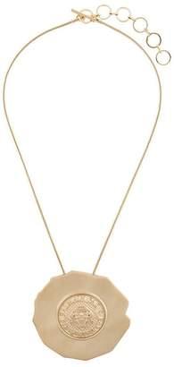 Balmain branded disc necklace
