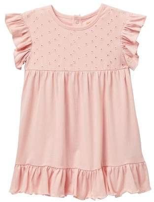 Harper Canyon Mixed Media Eyelet Dress (Baby Girls)