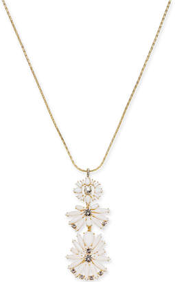 """INC International Concepts I.n.c. Gold-Tone Crystal & Stone Cluster Pendant Necklace, 28"""" +3 extender, Created for Macy's"""