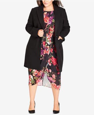 City Chic Trendy Plus Size Sweet Romance Coat