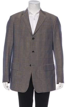 b4e8287c1a9 Billy Reid Plaid Wool   Linen Blazer
