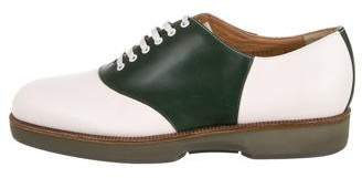 Salvatore Ferragamo Leather Lace-Tie Oxfords