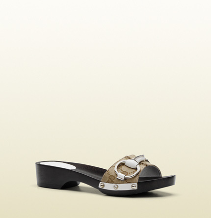Gucci 'icon Bit' Clog With Horsebit Detail And Studs.
