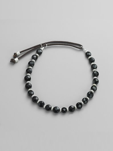 Catherine Michiels Black Onyx & Sterling Silver Bracelet