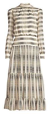 Saloni Women's Isabel Tiered Midi Dress - Size 0