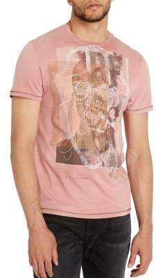 Buffalo David Bitton Tappa Coral Foil Cotton Tee