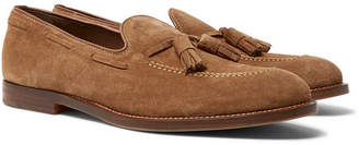 Brunello Cucinelli Suede Tasselled Loafers - Men - Tan
