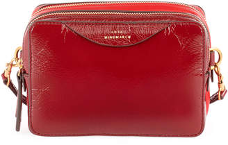 Anya Hindmarch Stack Double Shiny Wallet on a Strap, Red