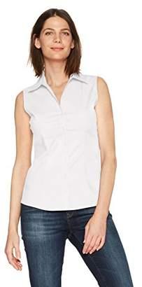 Lee Indigo Women's Sleeveless Easy Care Button Front Woven Shirt