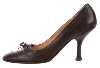 Chanel Round-Toe Leather Pumps