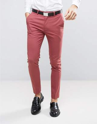 ASOS WEDDING Skinny Suit Pants In Berry $40 thestylecure.com