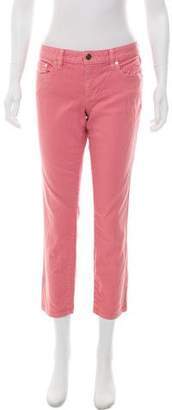 Tory Burch Cropped Mid-Rise Jeans