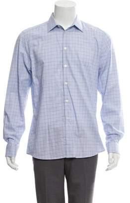 Givenchy Check Print Button-Up Shirt blue Check Print Button-Up Shirt