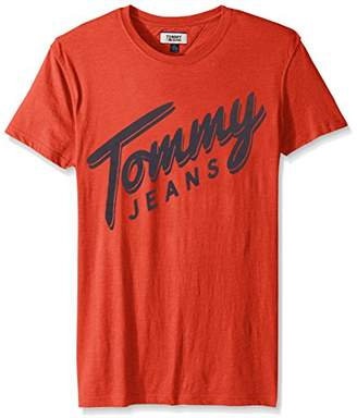 Tommy Hilfiger Tommy Jeans Men's T-Shirt Short Sleeve Graphic Logo Tee