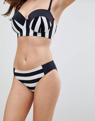 Stripe Bikini Bottom - Black/white Pour Moi Sast Cheap Online Qnfy1QUVrY
