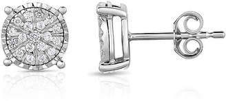 TRUMIRACLE Trumiracle True Miracle 1/4 CT. T.W. Genuine White Diamond Sterling Silver 8.7mm Stud Earrings