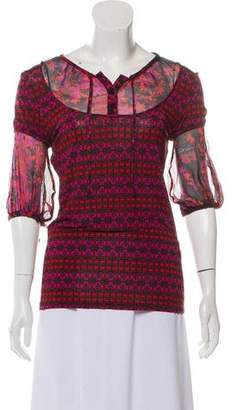 Just Cavalli Printed Long Sleeve Top