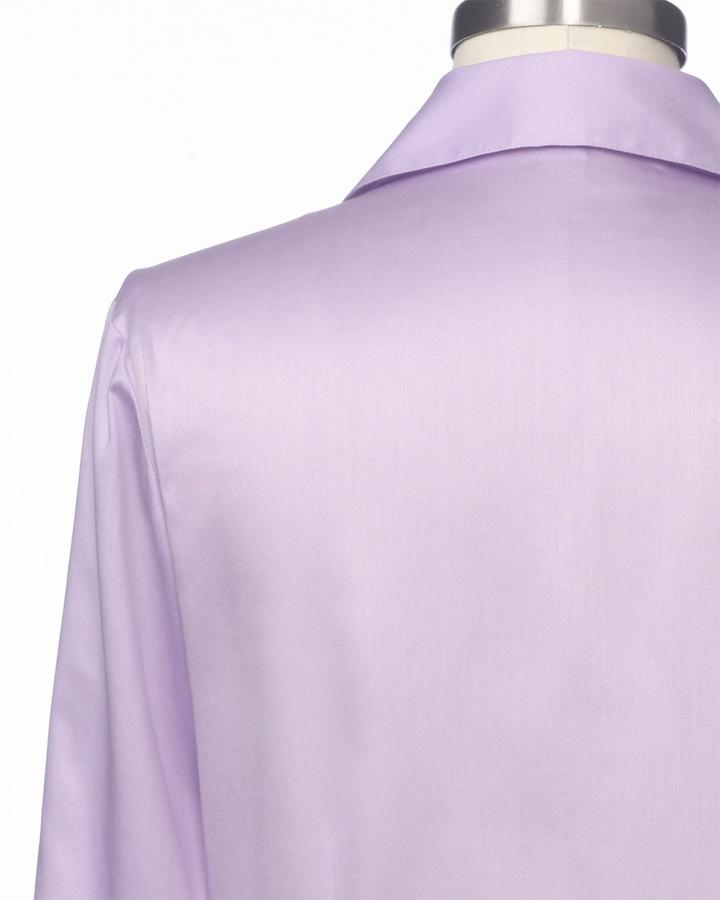 Coldwater Creek Waist detail sateen shirt