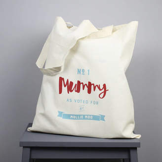 XOXO Personalised 'Number One Mummy' Tote Bag