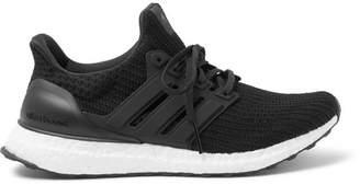 adidas Sport - Ultraboost Rubber-trimmed Primeknit Running Sneakers - Black
