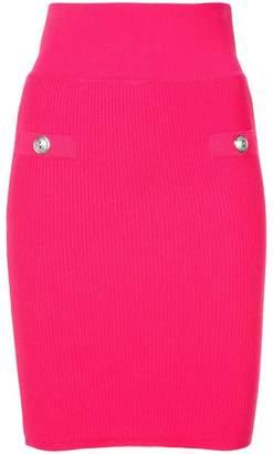 Balmain ribbed knitted skirt