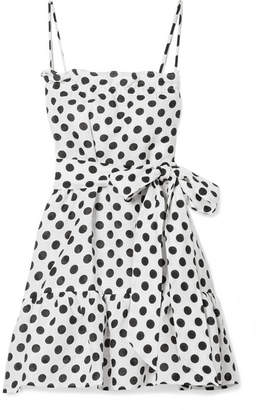Lisa Marie Fernandez Liz Polka-dot Linen Mini Dress - White