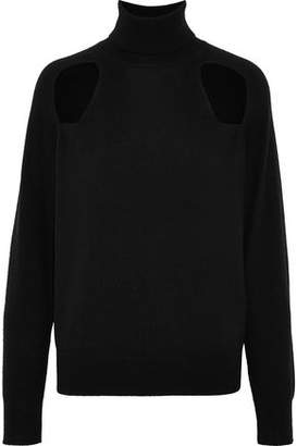 L'Agence Philo Cutout Wool And Cashmere-Blend Turtleneck Sweater
