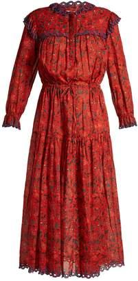 Etoile Isabel Marant Eina embroidered floral-print midi dress