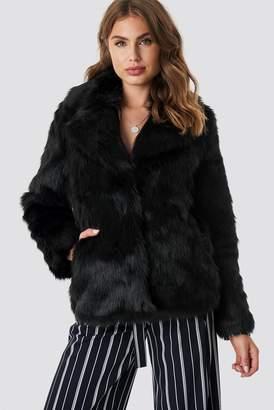 NA-KD Na Kd Faux Fur Collar Jacket