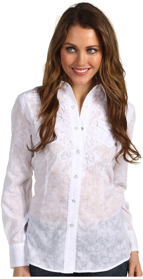 Ariat Ella Shirt (White) - Apparel