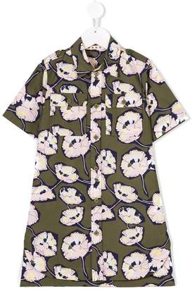 Marni poppy print shirt dress