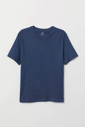 H&M V-neck T-shirt Regular fit - Blue