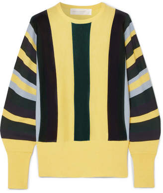 Victoria Beckham Victoria, Striped Wool Sweater - Yellow
