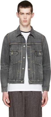 Visvim Grey Denim Damaged Jacket $1,350 thestylecure.com