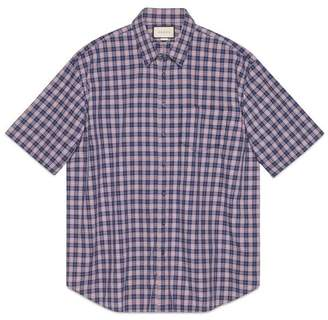 Gucci Oversize check cotton shirt