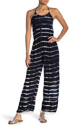 Raga Nautical Days Striped Halter Jumpsuit