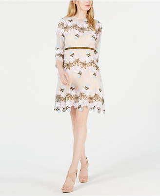 Foxiedox Floral Applique Fit & Flare Dress