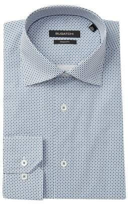 Bugatchi Printed Shaped Fit Dress Shirt