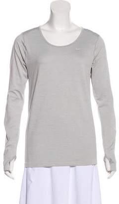 Nike Long Sleeve Scoop-Neck Top
